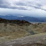 Death Valley Zabriskie Point Storm Clouds