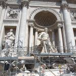 Trevi Fountain Scaffolding
