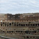 Rome Italy Colosseum Interior Panorama