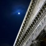 Pantheon Lintel with Full Moon