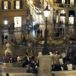 Evening scene on Rome, Italy's Spanish Steps