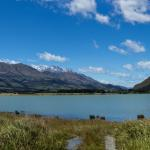 Lake Wakatipu, sky and mountains near Glenorchy, New Zealand