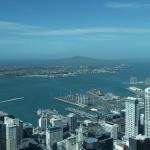 View of the harbor from Auckland's Sky Tower